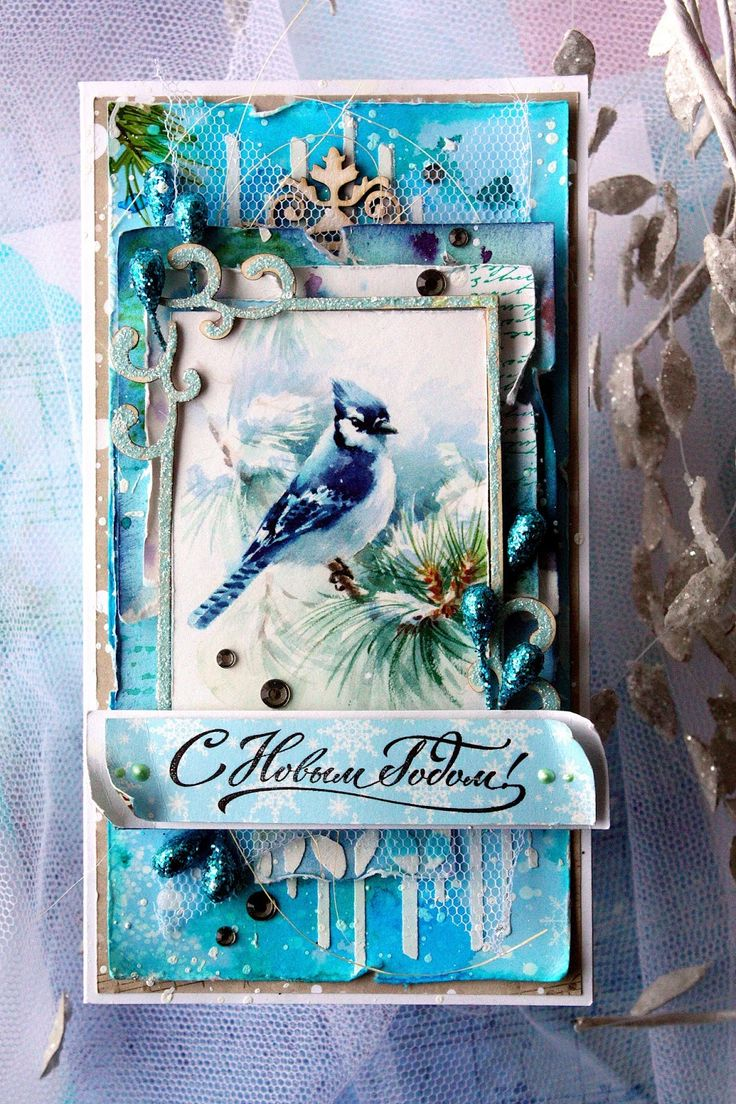 ScrapBerry's: Happy New Year card with A Taste of Winter collection