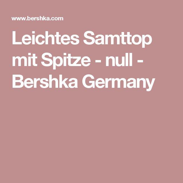 Leichtes Samttop mit Spitze - null - Bershka Germany