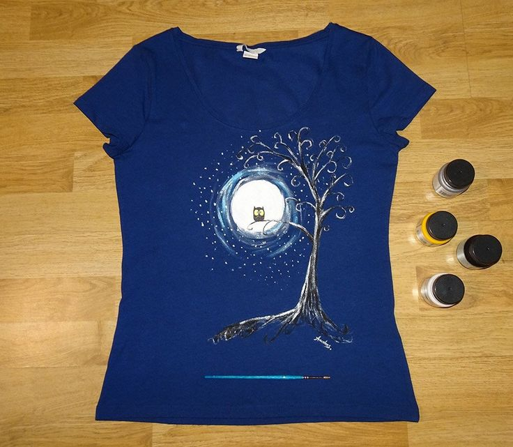 Tricou Moon Owl   #tricouripictate #pictatmanual