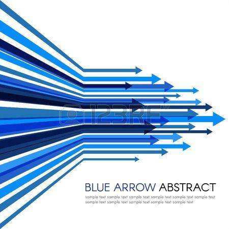 青い矢印線鋭いベクトル抽象的な背景. 写真素材 - 48289489