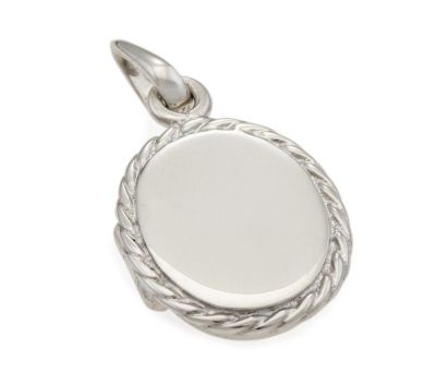 Locket -  OVAL ROPE EDGE- Sterling Silver or 9ct Gold - PersonalisedA locket of timeless design, Made in Australia in solid sterling silver or 9ct yellow, rose or white gold.