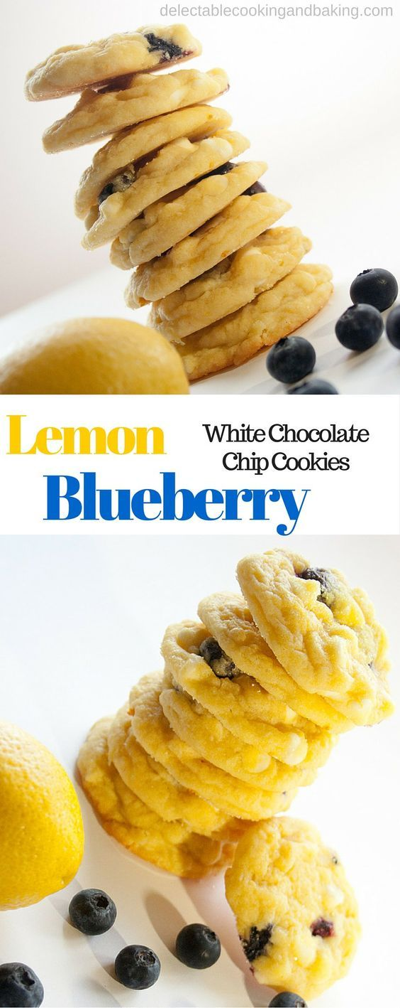 Lemon may be one of my favorites, but it's not biased when I say that these Lemon Blueberry with White Chocolate Chip Cookies are truly sensational! I love the loaded lemon flavor of these cookies with bursting fresh blueberry flavor! DelectableCookingandBaking.com | #lemonblueberrycookies #whitechocolate #lemonblueberrywhitechocolatechipcookies #lemoncookies #freshblueberries #bestcookiesever
