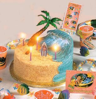 Surfer - decorated cake in the shape of