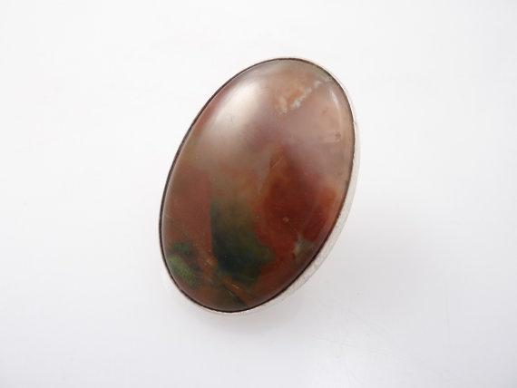 Finland Heikki Kaksonen for Kaunis Koru Sterling Silver Modernist Agate Adjustable Ring, SOLD  https://www.etsy.com/shop/Scandimania