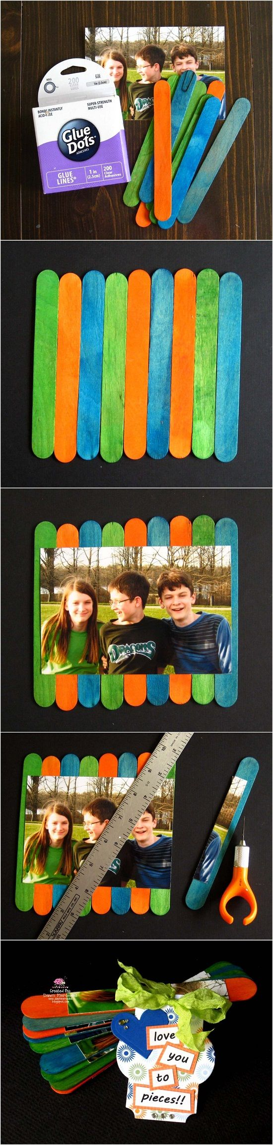 Love You To Pieces Picture Gift - DIY Popsicle Craft