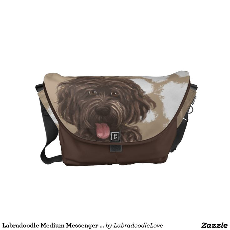 Labradoodle Medium Messenger Bag  |Pet Cartoon