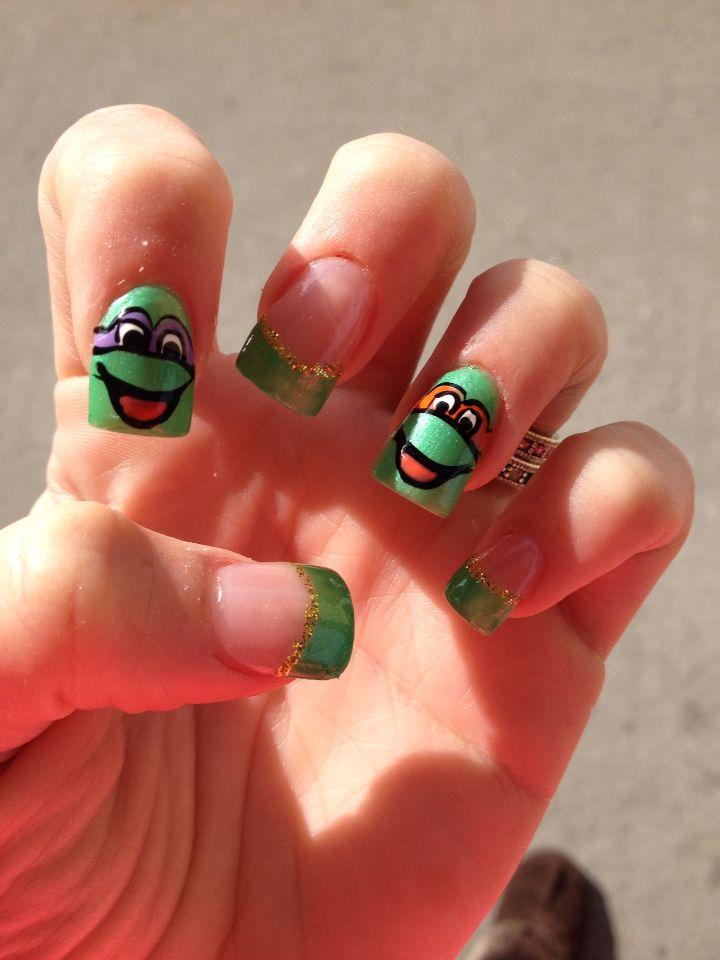 My ninja turtle nails