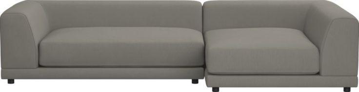 uno 2-piece sectional sofa (Woven Textural Poly)