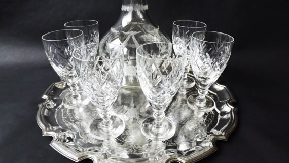 Vintage #Crystal #Sherry Glasses #Port Glass by CuriosAnCollectibles