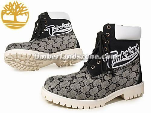 Cheap Timberland Men's 6-Inch Surface Printing Boot In Grey Black White With Logo $ 83.99