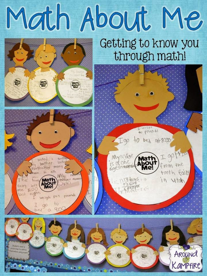Math About Me!  Back to school, getting to know you as students activity as students define themselves using math!