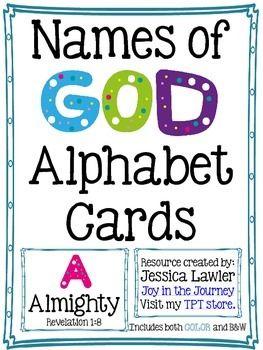 Names of God Alphabet Cards $2.00