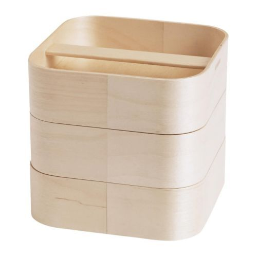MIEN Storage box, birch veneer $9.99.  3-tier storage, suitable for hair care items, jewelry, etc.