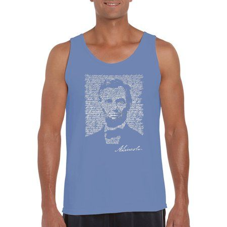 Los Angeles Pop Art Big Men's Tank Top - Abraham Lincoln - Gettysburg Address, Size: 2XL, Multicolor