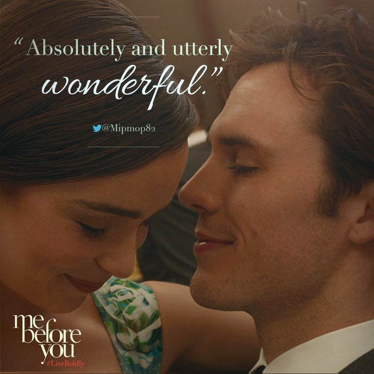 A young English woman content with her small-town life is hired as the caretaker for an affluent Londoner paralyzed in a tragic accident. ME BEFORE YOU
