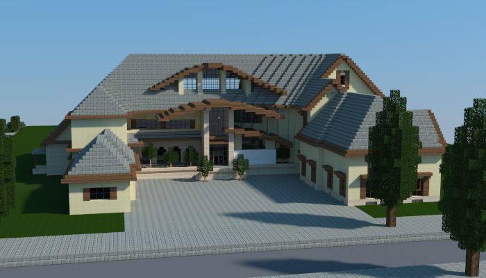 Another mansion i made in minecraft download http www for Modern house schematic