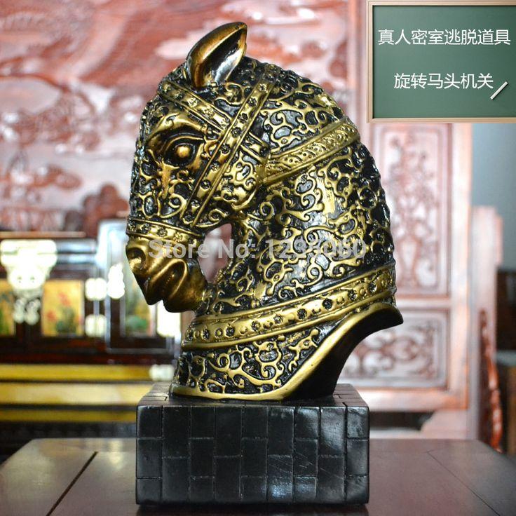 Rotary cabeza de caballo órgano bloqueo de giro para escapar misteriosa habitación sala de escapar de la vida Real juego prop(China (Mainland))