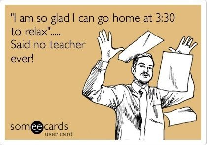 Teacher humor - there's always something to do.