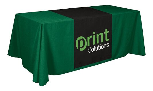 Best way to make a good impression with a business display or set the right mood during a special occasion is with a custom table runner. Table runners can put the finishing touch on a table covered with table throws.