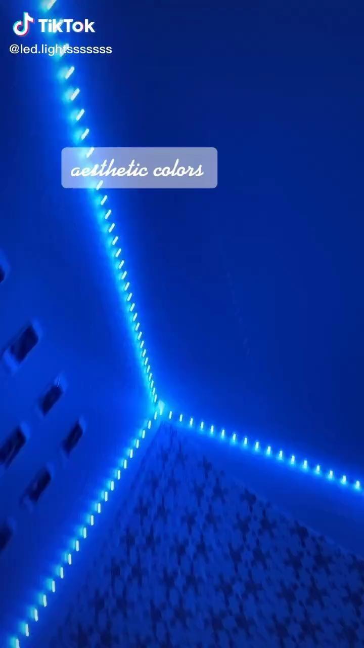 Aesthetic colors led lighting bedroom led lighting diy