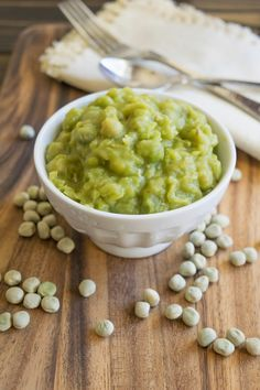 Mushy peas. A classic British side dish made from dried marrowfat peas then cooked on the stovetop until, well, they get mushy.