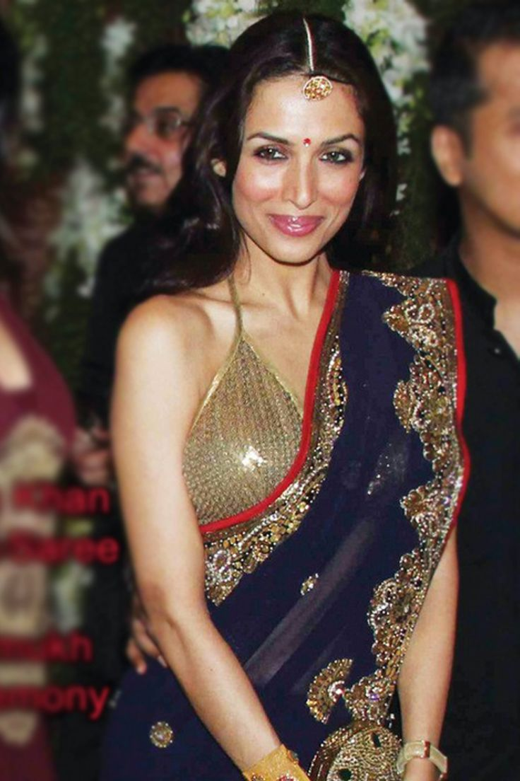 Bollywood Designer Sarees | Mallaika Arrora Blue Designer Saree Blouse