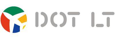 DOT LT Logo. (LITHUANIAN).