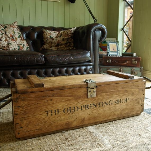 Lucy's Favourite Etsy £175 VINTAGE MILITARY CHEST A unique & beautiful piece of classic industrial furniture brimming with history & character to compliment both traditional and modern interiors.MATERIALS: Pine,...