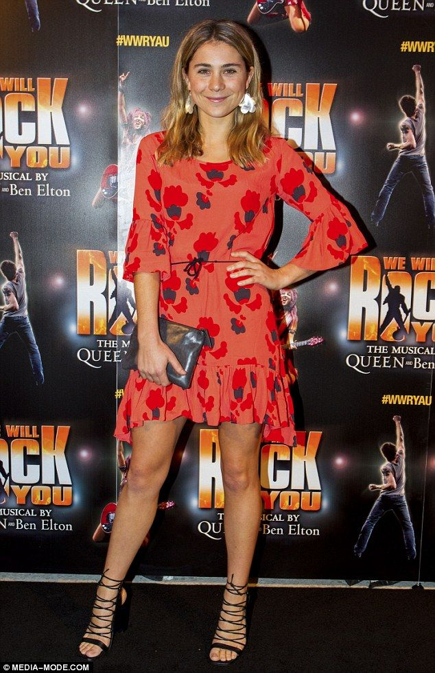 Looking good: Home And Away star Tessa De Josselin was certainly dressed to impress when s...
