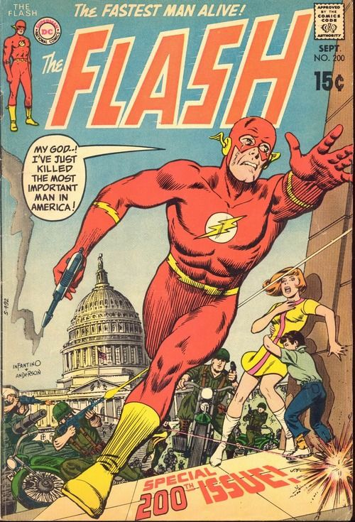 The Flash n°200, September 1970, cover by Carmine Infantino and Murphy Anderson.