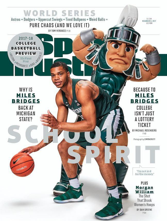 Miles and Sparty on SI Cover