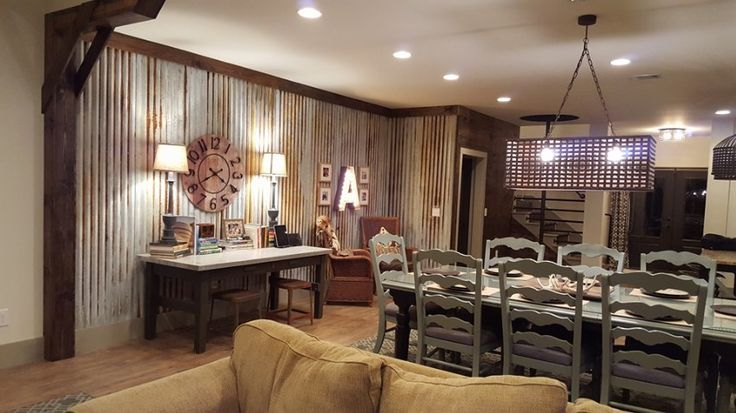 """DIY Aging Metal Panels for wall install! Check out my """"how to"""" on the Blue Fox BLOG! #rustic #agingmetalpanels #barnhouse"""