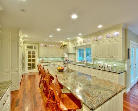 White Cabinets Kitchen Granite