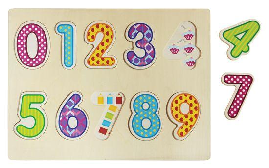 PUZLE DE ENCAJE NÚMEROS Encaje de madera con números decorados para aprender a jugar con los números y su orden. Recomendado para más de 2 años. PVP: 7,25 € #puzzlemadera #puzzlenumeros #puzle http://www.babycaprichos.com/puzle-de-encaje-numeros.html