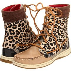Sperry leopard boots:)