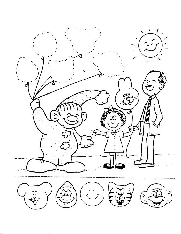 preschool circus coloring pages - photo#16