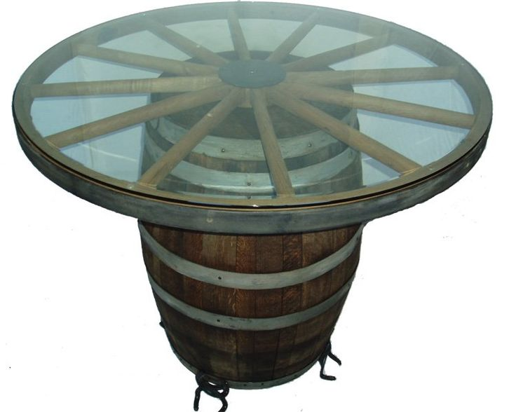 Wagon Wheel Table And Barrel Western Decor Pinterest