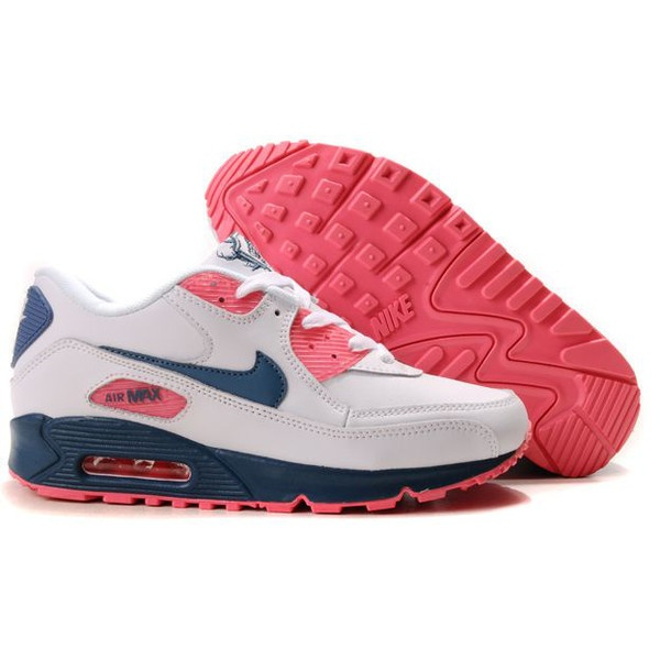 New Nike Air Max 90 Leather White Rift Blue Light Lava Womens Shoes