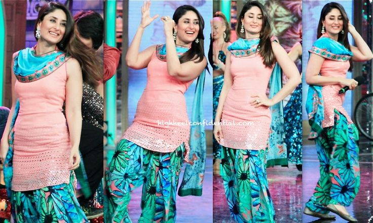 For her appearance on a television show to promote her movie, Kareena picked a Nishka Lulla suit once again. Wonder going forward, if she's going to stick to in-character sartorial choices. As for this appearance, you like?