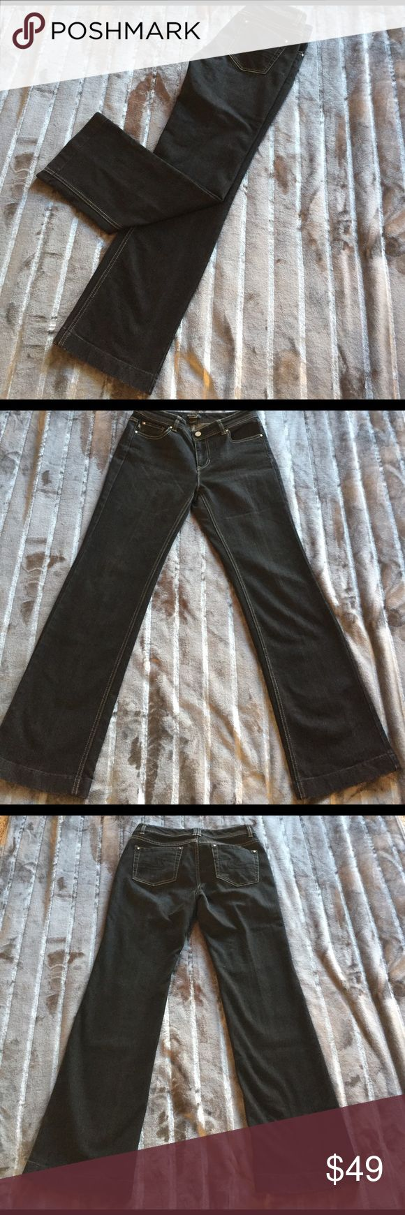 WHBM size 6S black bootcut jeans Black size 6S bootcut White House Black Market. Five pocket with single button and zipper closure. Some whiskering. In great used condition. Inseam 30 Rise 8 3/4.       (193) White House Black Market Jeans Boot Cut
