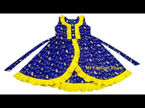 f307c72ba Beautiful   simple kids summer baby girls frocks designs