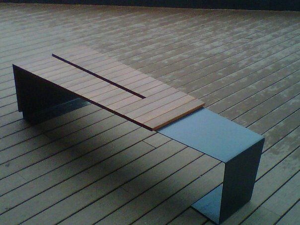 pinterest benches. Modern design  Ipe wood and metal bench www primewooddecking com Tel 561 945 28 best Benches images on Pinterest Bench