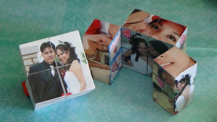 Como hacer un Cubo Magico con fotos para este 14 de febrero