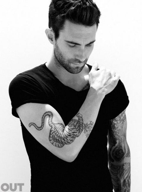 i love the placement of this tiger tattoo: Eye Candy, Adam Levine, Maroon5, This Men, Boys, Things, Maroon 5, Tattoo, Beautiful People