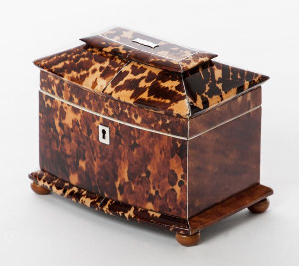 The perfect place to hide your Easter Eggs! This 19th century tortoiseshell tea caddy is offered by Lennox Cato at The Edenbridge Galleries, Kent. www.edenbridgegalleries.com