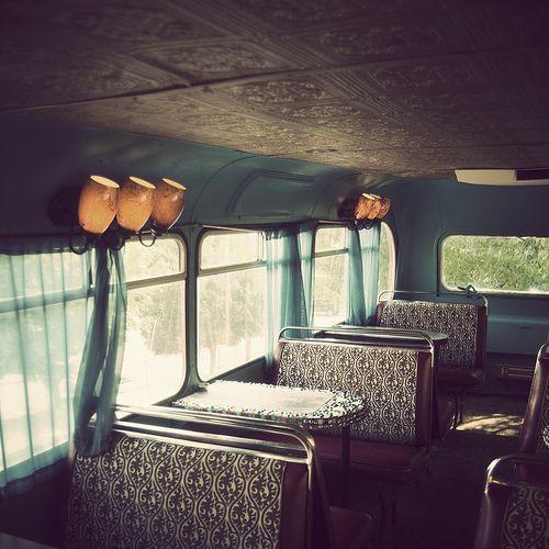 coffee shop in a double decker bus by xt_marie, via Flickr    IDEA