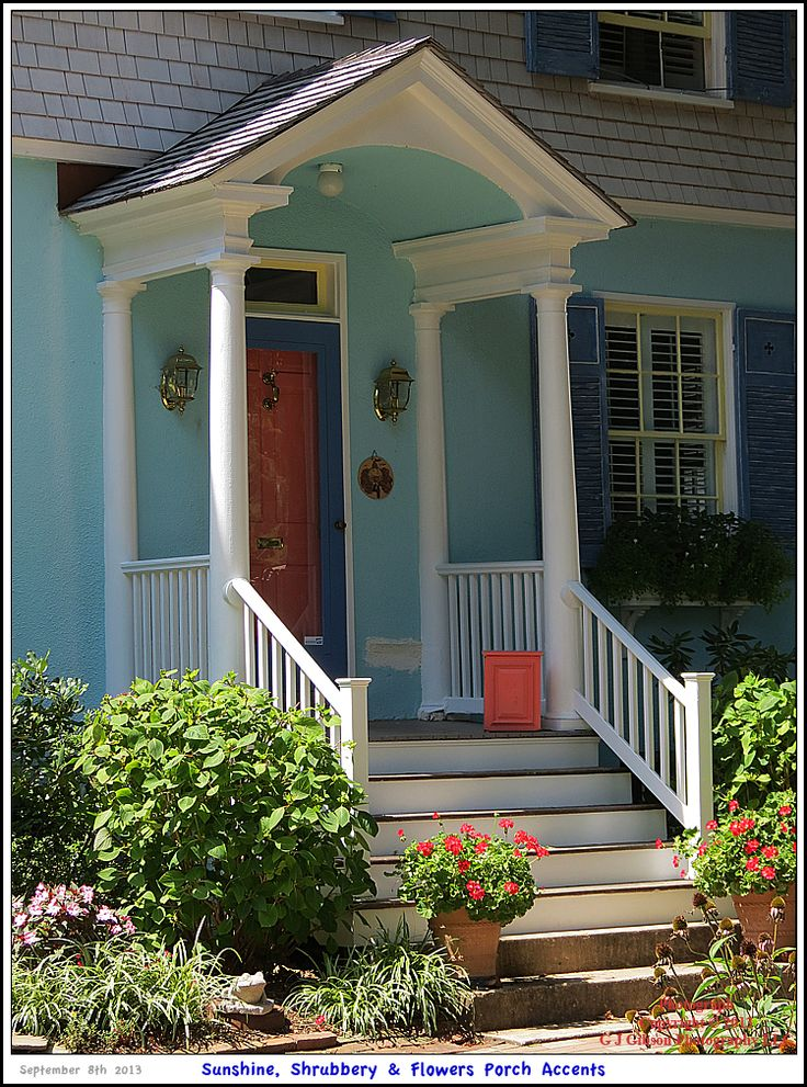42 best ideas about exterior on pinterest outdoor wall for Colonial front porch ideas
