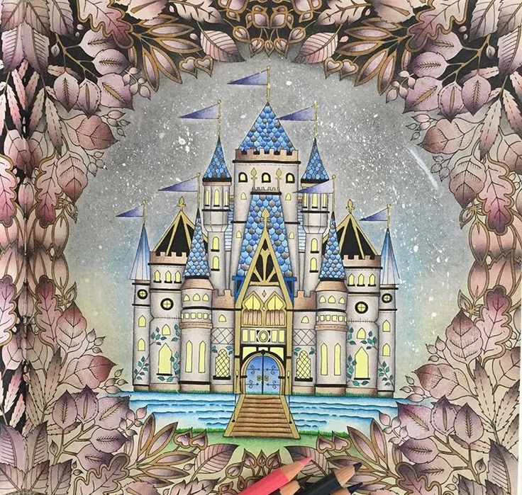 Forest Pictures Adult Coloring Books Colouring Johanna Basford Color Art Castles Painting Good Morning