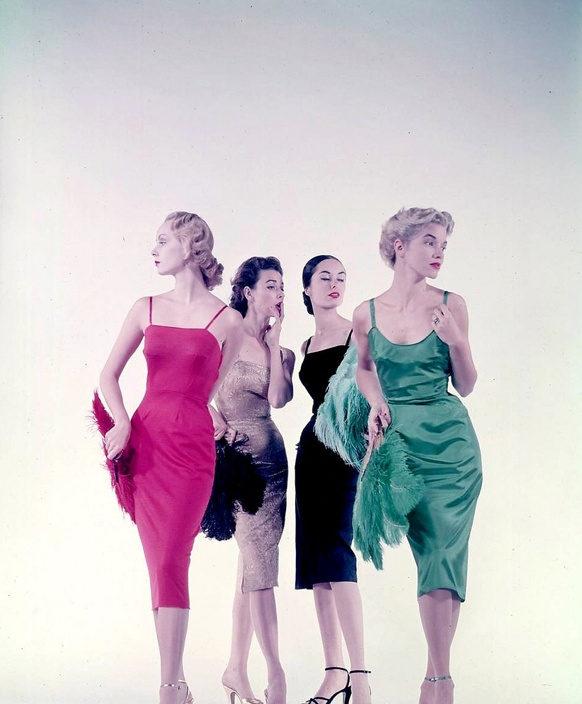 Gjon Mili: Fashion Models, 1950S, Vintage Fashion, 50S Fashion, 50 Fashion, 50 S Style, 1950 S Fashion