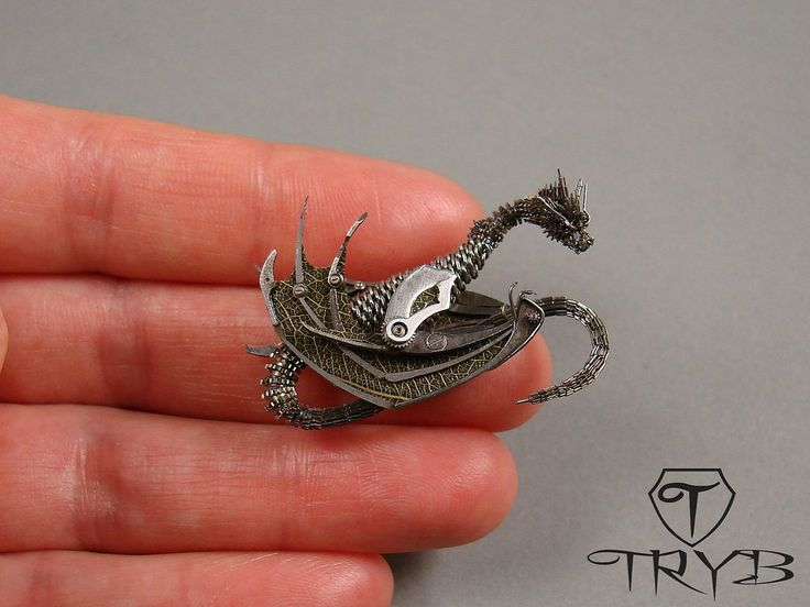 Under construction - Dragon #handmade #dragon #clockwork #tryb #miniature #jewelry